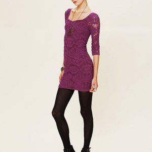 Free People Intimately Lace Medallion Slip Dress